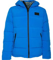 bluette hooded down padded jacket ducky print lining