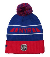 outerstuff youth new york rangers 2020 rinkside pom knit hat