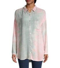 bb dakota women's spread-collar long-sleeve shirt - size s