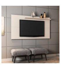 painel para tv até 50 pol móveis bechara off-white