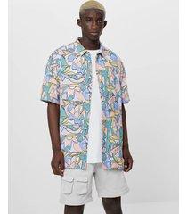 pastel blouse met print