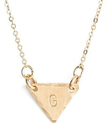 nashelle 14k-gold fill initial triangle necklace in 14k gold fill g at nordstrom