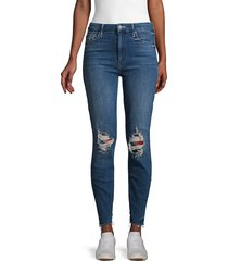 mother women's high-waist distressed ankle jeans - last call - size 31 (10)