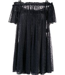 missoni off-the-shoulder glitter mini-dress - blue