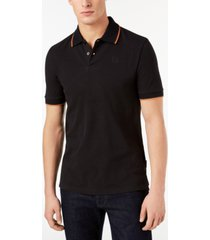 ax armani exchange men's contrast tipped polo