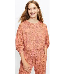 loft lou & grey petaled cozy cotton terry sweatshirt