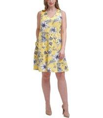 jessica howard plus size printed a-line dress