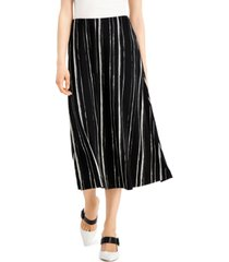 alfani petite striped comfort-waist midi skirt, created for macy's