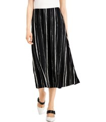 alfani petite striped comfort-waist midi skirt, created for macy's