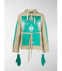 craig green panelled hoodie