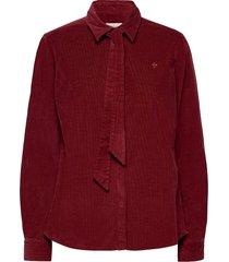 alair cord shirt overhemd met lange mouwen rood morris lady