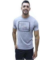 camiseta gris under armour ua rhythm ss