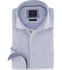 profuomo shirt blauw wit gestreept slim fit