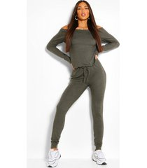 tall slash neck lounge jumpsuit, khaki