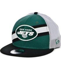 new era new york jets diagonal trucker 9fifty cap