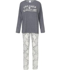 pijama pzama cobra cinza - cinza - feminino - algodã£o - dafiti