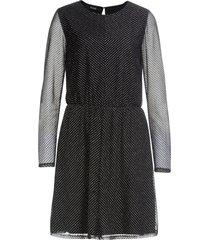 abito in chiffon con lurex (nero) - bodyflirt