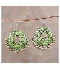 ceramic dangle earrings, 'spring dream' (india)