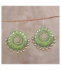 ceramic dangle earrings, 'spring dream' (india)