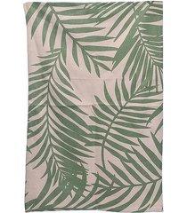 dywan chodnik bawełniany leaves green 60x90 cm