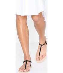 nly shoes simple sandal flats svart