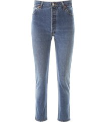 re/done high rise sankle crop jeans