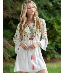 vestido natural sophya gun
