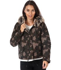 only womens skylar faux fur trim parka size 4 in other