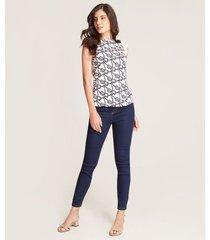 jeans skinny contraste costuras