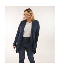 casaqueto com pontas curve e plus size azul