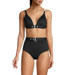 love moschino women's buckle bikini top - nero - size 1 (s)