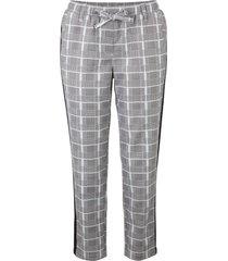 pantaloni cropped in twill a quadri (argento) - bpc bonprix collection