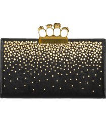 four ring crystal flat pouch