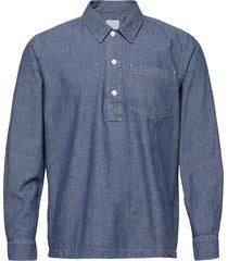 albert chambray shirt skjorta casual blå wood wood