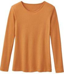 biologisch katoenen shirt met ronde hals en lange mouwen, mango 40