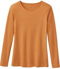 biologisch katoenen shirt met ronde hals en lange mouwen, mango 34