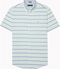 tommy hilfiger adaptive men's custom-fit hill stripe shirt with magnetic buttons