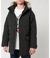 canada goose men's emory parka jacket - navy - s