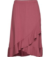 saphira skirt knälång kjol rosa masai