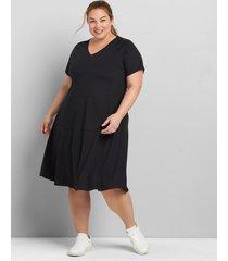 lane bryant women's livi soft hooded dress 38/40 black