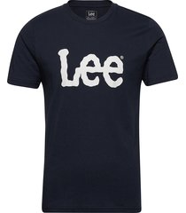 woobly logo tee t-shirts short-sleeved blå lee jeans