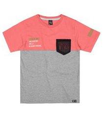 camiseta livy verão tela vermelho genebra/mescla médio