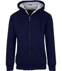 galaxy by harvic men's sherpa lined fleece zip-up hoodie