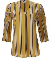 blusa a rayas verticales color amarillo, talla xs