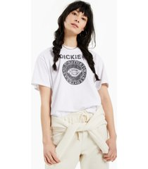 dickies cotton distressed logo-graphic t-shirt