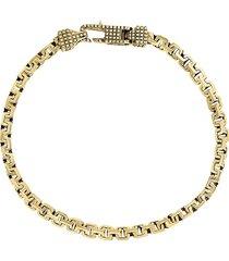 effy men's goldplated sterling silver greek box chain bracelet