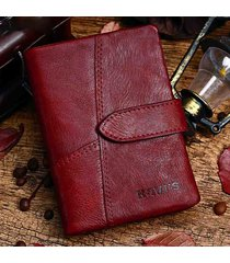 vera pelle portamonete portafogli piccolo vintage per donna