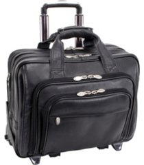 "mcklein gold coast, 17"" patented detachable -wheeled laptop briefcase"