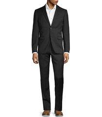 regular-fit wool blend suit