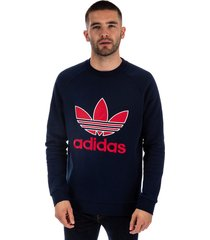 mens trefoil crew neck sweatshirt